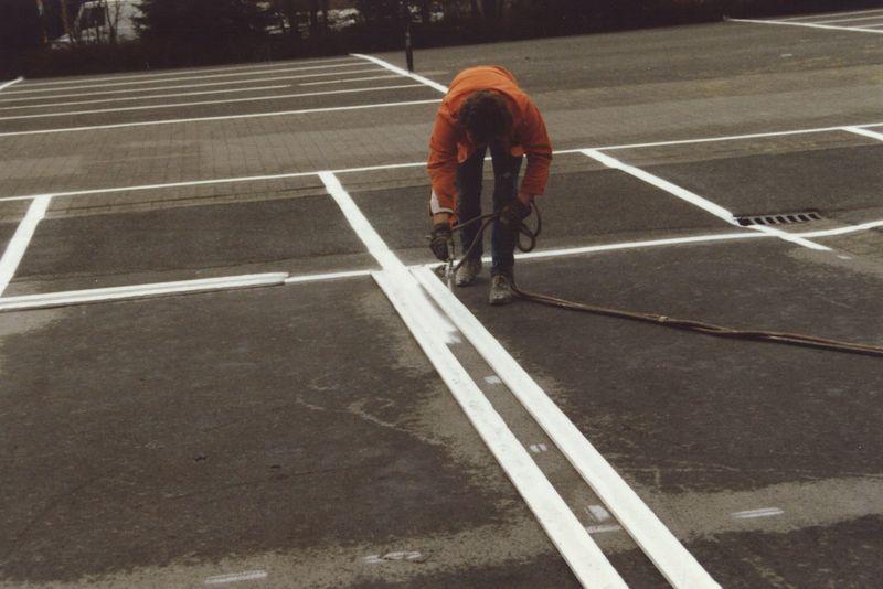 Fahrbahnmarkierungen in den 70er Jahren