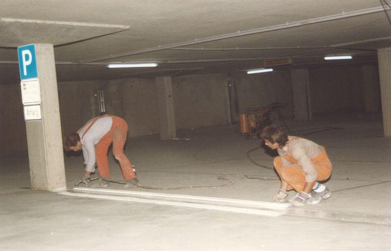 Bodenmarkierungen in den 80er Jahren